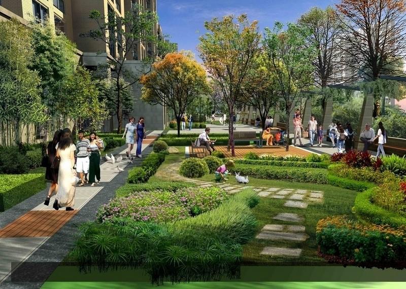 小区园林景观 武汉园林景观设计 绿化工程施工 屋顶花园